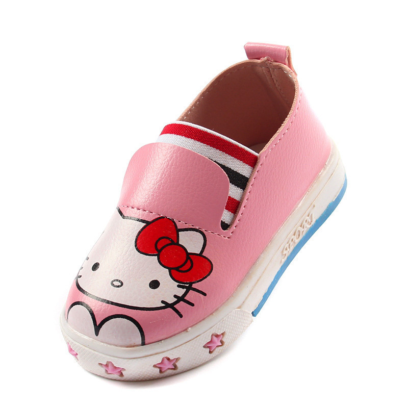 b41108ccb Get Quotations · 2015 Autumn New Korean Girl Hello Kitty Shoes Soft Sole  Breathable Kids Princess Sneakers PU Children
