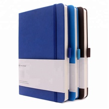 2019 High Quality PU Leather Diary Note Book With Pocket Office Logo Cover Custom A5 Planner Journal Notebook