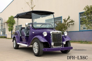 supply high quality purple electric golf cart 4 seats for sale DFH-LX6C