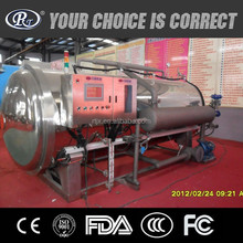 Automatic hot water spray steam industrial autoclave sterilizer machine for food
