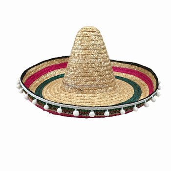 Mh-0012 Party Oversized Mexican Sombrero Wide Brim Straw Hat - Buy ... 9c1dffecd72
