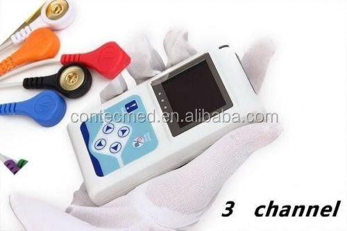 Special Price 3 Channels 24Hrs Dynamic ECG/EKG Holter
