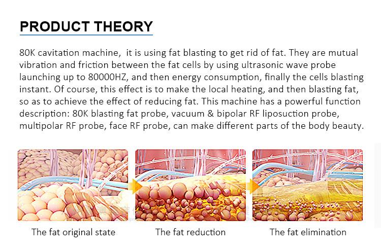 New product ideas 2019 body vacuum 80k cavitation ultrasonic rf suction slimming machine