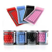 Universal Folding Roll Up Soft Silicone Portable Wireless Bluetooth 3.0 Keyboard For PC Laptop