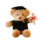 Customized 8 Inches Present Gifts for Graduation Day Stuffed Teddy Bear Plush Toy
