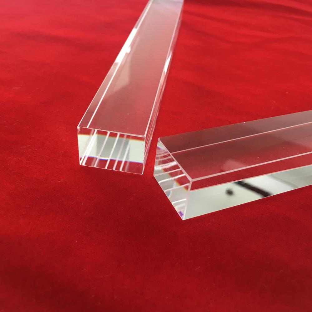 GE214 rectangle clear quartz glass rod