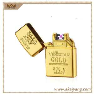 Windproof Gold X Beam USB Rechargeable Electric Arc Plazma Lighter