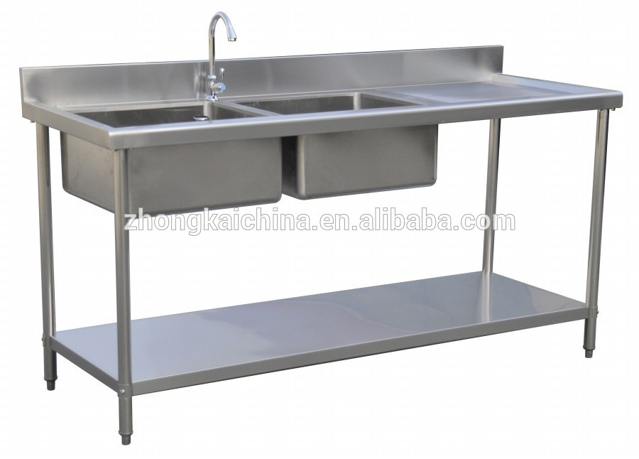 Metal Kitchen Sink Base Cabinet/stainless Steel Kitchen Sink Cabinet/double Bowl ...