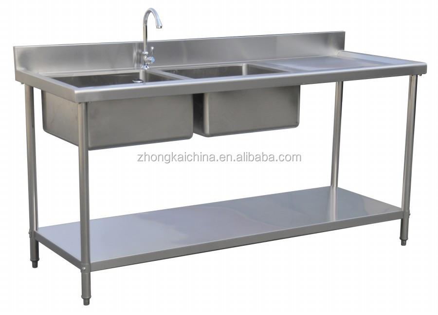 Metal Kitchen Sink Base Cabinet Stainless Steel
