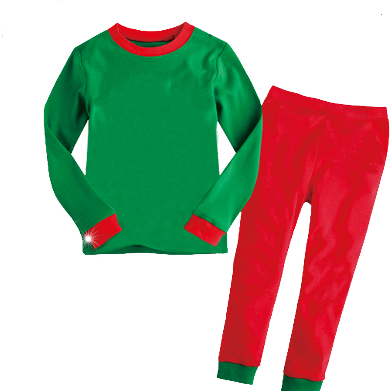 get quotations 2015 pijamas kids baby boys and girls clothing pyjamas kids solid green and red christmas pajamas - Childrens Christmas Pyjamas