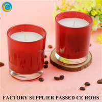 Red Glass Material candle holder Votive Candles