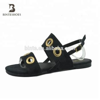 59695d62f790 Eyelet black ladies shoes fancy sandal slipper china guangzhou wholesale  market of shoes online shop china