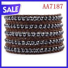 Fashion Style wholesale plain leather bracelets