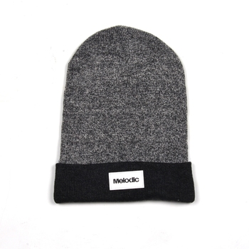 Men Knit Slouchy Beanie Cap Baggy Slouch Winter Beanie Hat Oversize with  Leather Patch 298582625696