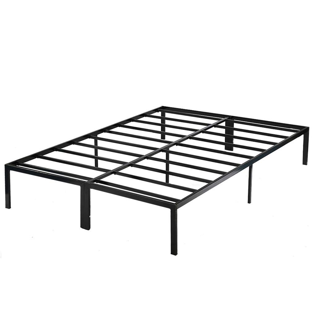 PayLessHere Bed Frame Platform Bed Frame Full Metal Base Mattress Foundation Frame 14 Inch Portable Heavy Duty Steel Replaces Box Spring with Black