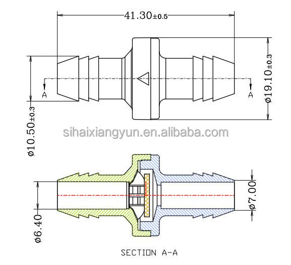 FTVOGUE R/ückschlagventil Kunststoff Inline One Way R/ückschlagventil f/ür Heiz/öl Wasser Gas Luft 4mm