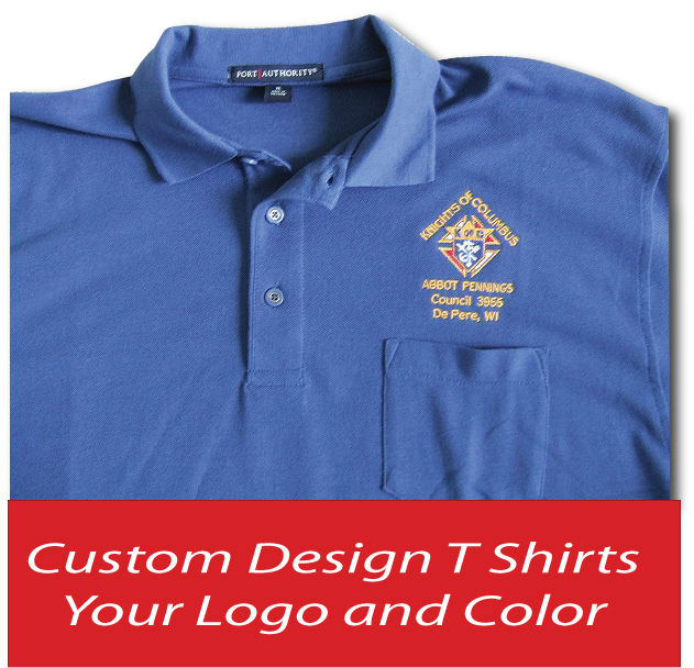 Promotional T Shirt Blue - Polo Shirts with Logo ( ISO 9001 - 2008 Fabric )