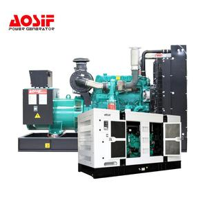 AOSIF 500KVA with cummins engine diesel generator fuel consumption continuous duty generator
