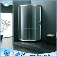 Glass Sliding Door/Bathroom Design/Clear Glass with Artificial Stone JK2209
