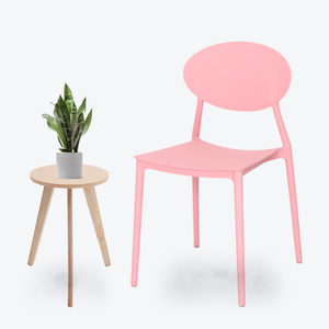 Multi colors cheap plastic chair dining table chair