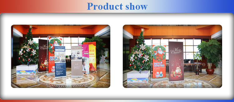 Custom high quality advertising teardrop standing scrolling roll up banner stand