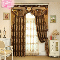High Quality automatic polyester fabric fancy window drapes industrial curtain