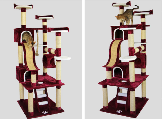 2013 Modern Cat Tree Luxury Cat Condo Durable Cat Tower