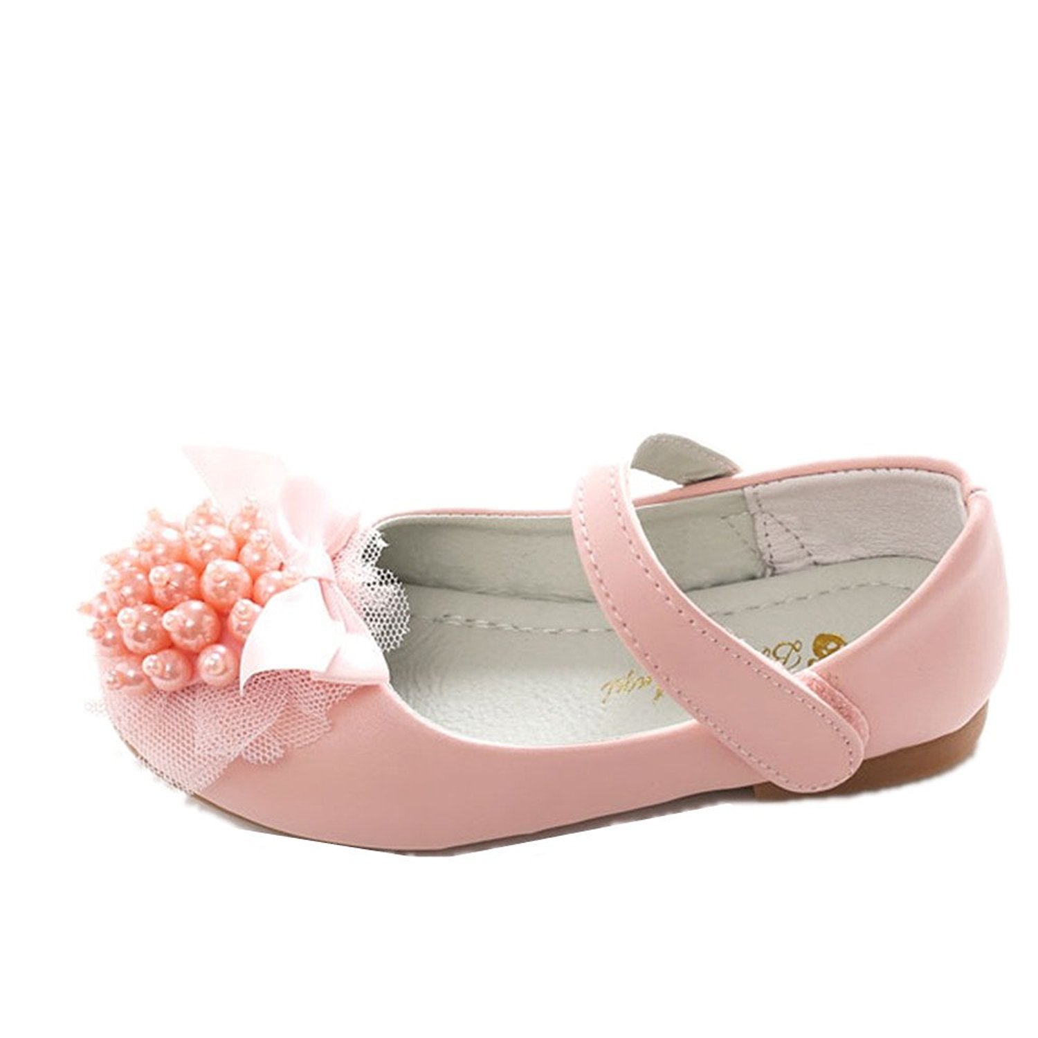 pit4tk Kids Flats For Girls Shoes Sweet Girl Flower Leather Flat Shoes Princess Shoes For Children Flat Shoes