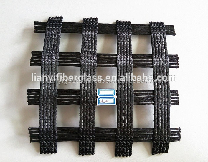 PVC coated warp knitted polyester geogrid PET geogrid with CE