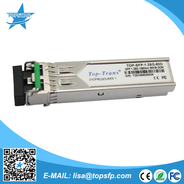 fiber media converter 1.25G 1550nm 60KM LC Connector 0-70Degree Compatible with Ruijie Item Number