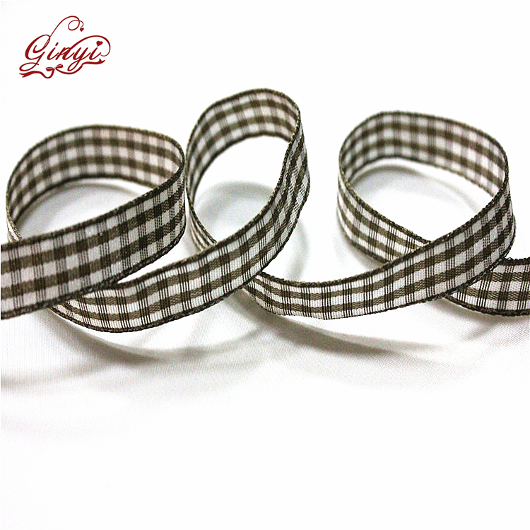 Tatuo Gingham Ribbon Wide Taffeta Plaid Ribbon 3/8 Inch x 100 Yards per Spool Ribbons