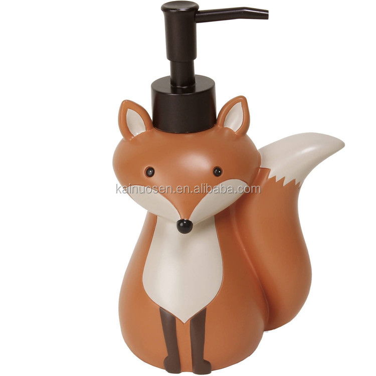 Personalized Handmade Painted Decorative Resin Fox Soap Dispenser