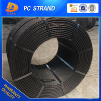 overstock building material high tensile 12.7mm pc steel strand wire / free samples