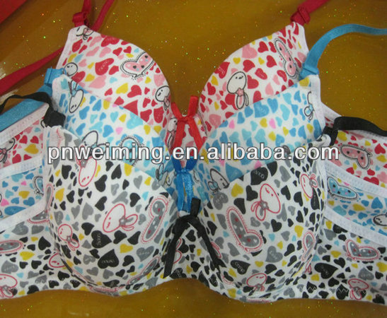 colorful design lovely girls complicated craft backless bra