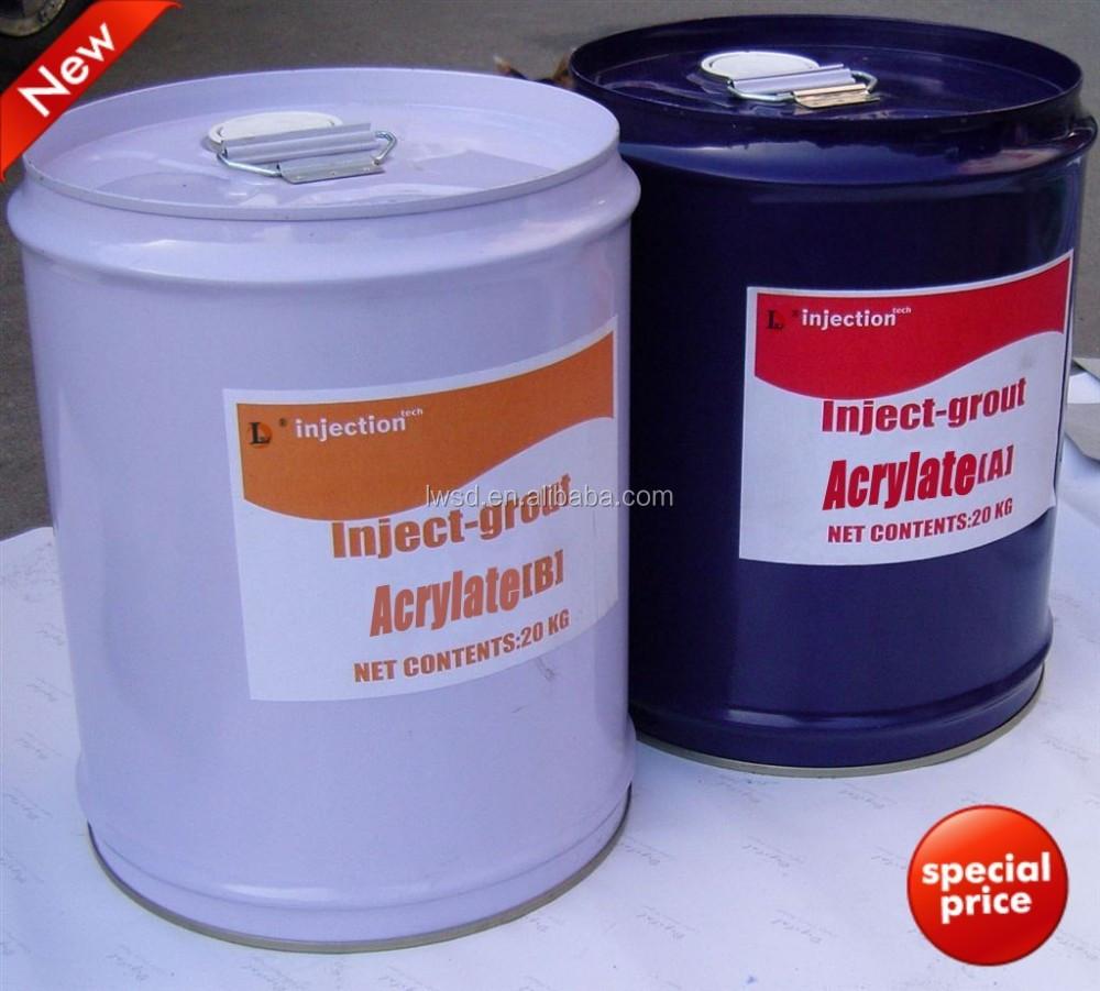 Chemische hars injectie acryl voegmiddel voor het afdichten van beton scheuren waterdicht - Waterdicht wax beton ...