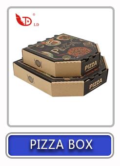 चीन निर्माता थोक वितरण पैकेजिंग बॉक्स foldable पिज्जा टुकड़ा बॉक्स
