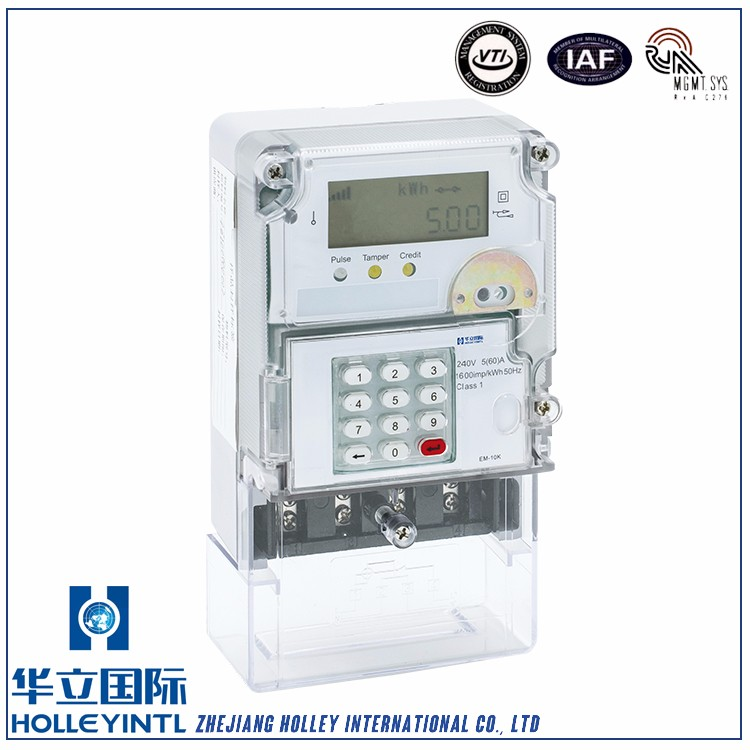 Terminal cover opening detection alarm Prepayment Power Meter