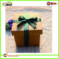 fancy cardboard paper storage gift box with ribbon