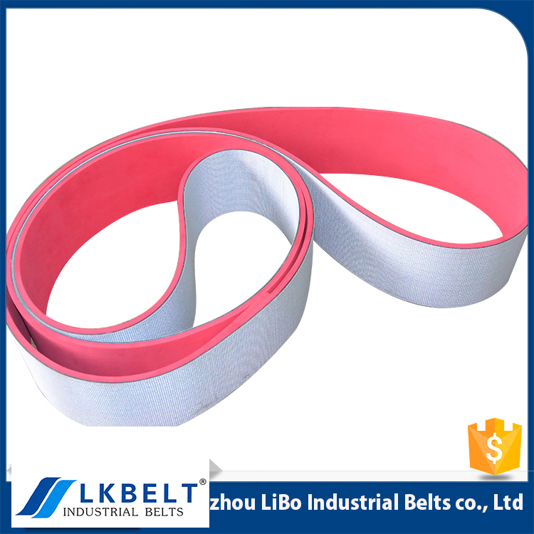Wholesale price Free sample Non-stick flat conveyor belt with red rubber cover