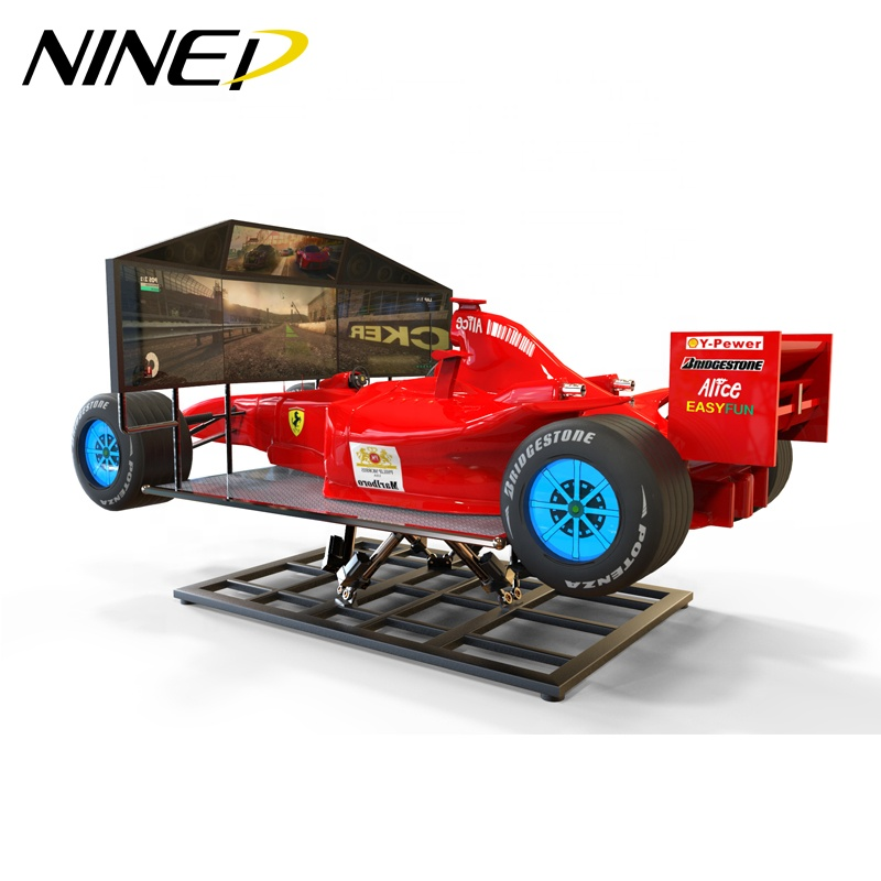 NINED Indoor Amusement Motion Plattform F1 Auto Racing Spiel Maschine Racing Motion Simulator F1 Simulator für Verkauf