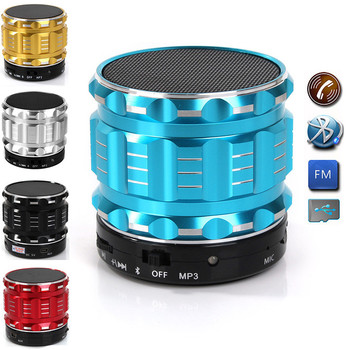 2017 new design S28 Portable Mini dj Metal Bluetooth Speaker with FM Radio Hands Free Calls Support TF Card for xiaomi