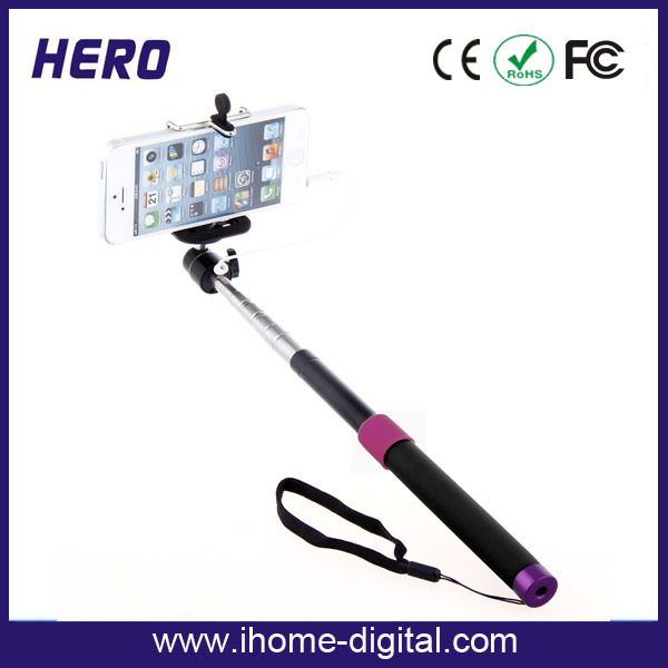 Light weight telescopic pole steady china selfie monopod,smartphone monopod selfie