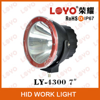 "7"" HID offroad light,driving light H3 HID hot selling style, SUV, ATV, 4WD,Heavy duty vehicle driving lights h3"