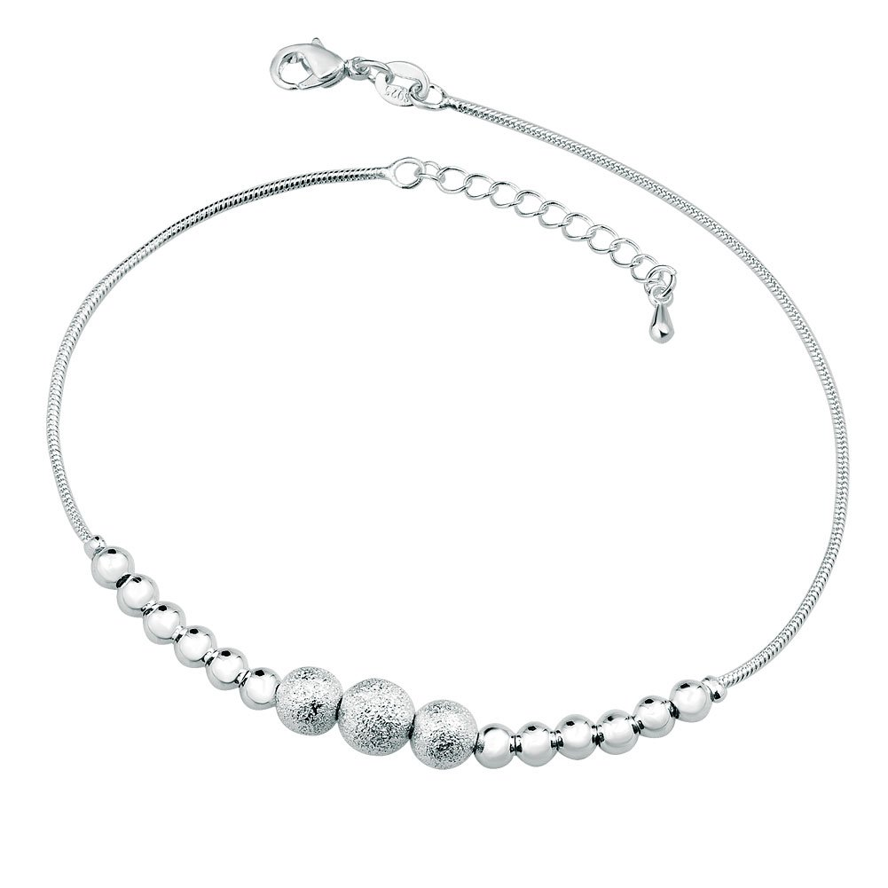 sterling quality anklet best x fashion sideways extention feather inch plus an silver authentic