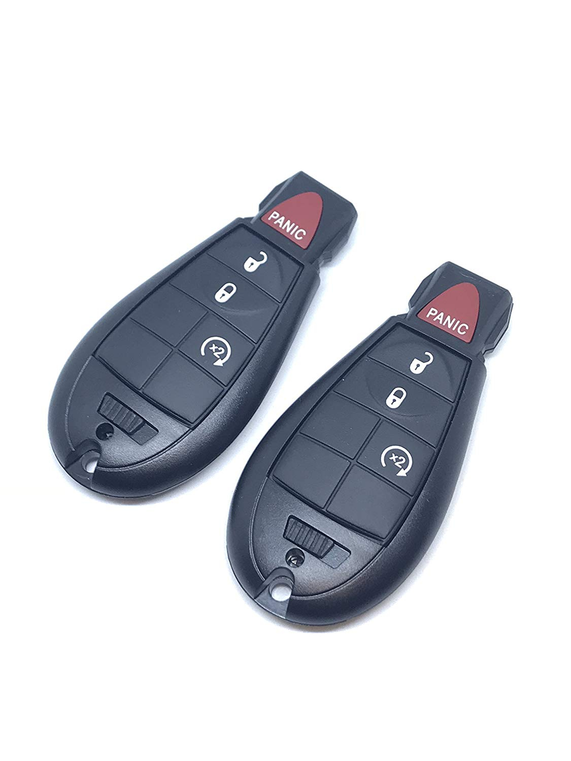 2 Pack Keyless2Go Keyless Entry Remote Car Key for RAM Vehicles That Use 4 Button Fobik GQ4-53T with Remote Start