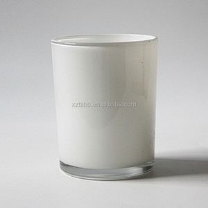 12.5x10cm round crystal candle holder votive candle glass jar white with light