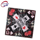 Promotional custom design printed cotton square skull bandana for sale