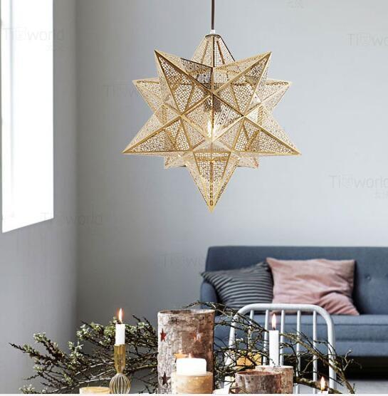 Diy Copper Moravian Star Pendant Light