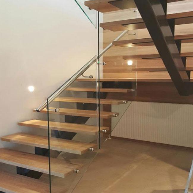 Custom Quarter Turn,Half Turn Stair Design Mono Stringer Steel Wood Tread  Straight Staircase   Buy Straight Staircase,Wood Tread Straight Staircase,Steel  ...