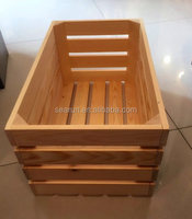 Home arts crafts boxes cheap wooden crates wholesale for storage